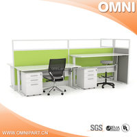 China supplier fashion and personal design single pedestal desk with drawer cabinet