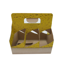 Custom paper corrugated cardboard 6 pack wine box,beer bottle packaging
