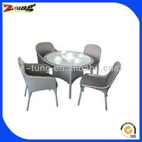 ZT-1099CT round rattan dining set for outdoor