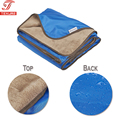 "58""x 72"" Large Palin Plush Fleece Waterproof Picnic Blanket Lawn Mat for Outdoor Camping Park with Bag"