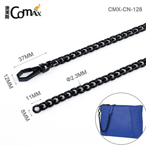 High Quality Black Iron Chain Bag Accessories Metal Chain