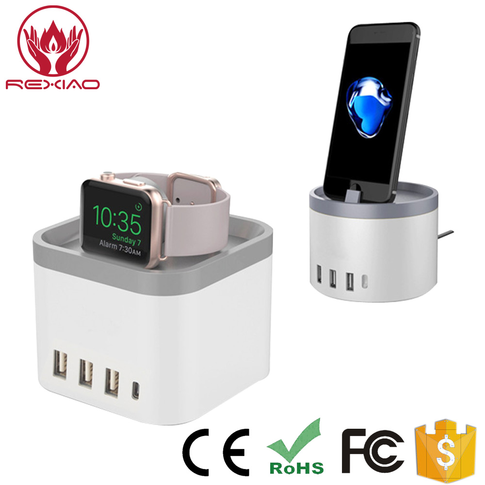 5-Port USB Charging Station with Holder for Apple Watch Series 2