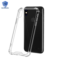 2017 New Coming Ultra Thin Crystal Clear Case,Soft TPU Frame And Hard PC Back Cover Full Protective Case For iPhone X