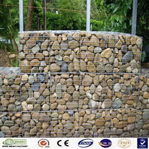 China factory cheap hot dipped galvanized wire mesh welded gabion box cages with high quality