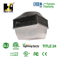 Gas station LED canopy light , 90-120w Option with DLC and ETL Cerficate