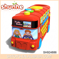Good Christmas gift educational toy sing alpha bus for baby