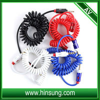 3.5mm Jack retractable coil cable coiled microphone cable