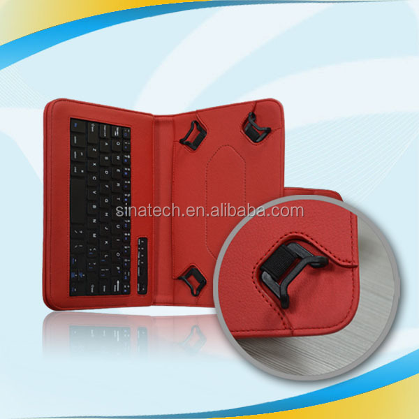 High Quality 360 rotate Tablet leather aluminium case with bluetooth keyboard for ipad 2