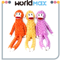 New Arrival Soft Cartoon Plush Toy Long Legs Monkey For Baby