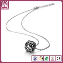 2014 low price charming long round floating pendant necklace for girls