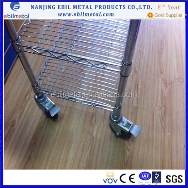 ISO Approved Kithen Chrome Wire Mesh Shelving(non-standard processing)