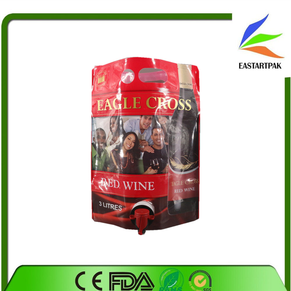 Customized bib wine bag in box holder