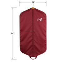 Hanging Polyester Suit cover - Garment Bag Covers for Luggage, Dresses, Storage or Travel - Suit Bag with Clear Window,Burgundy