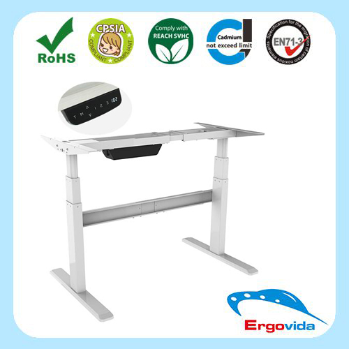 Ergonomic Automatic Height Adjustable Table Leg Workstation Desk ,Office Table Electrical