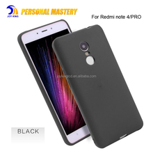 For Xiaomi Redmi Note 4 Case TPU Frosted Soft Matte Plastic Ultra Thin Slim Light Case for redmi note 4x pro note 3 a1 5x Black