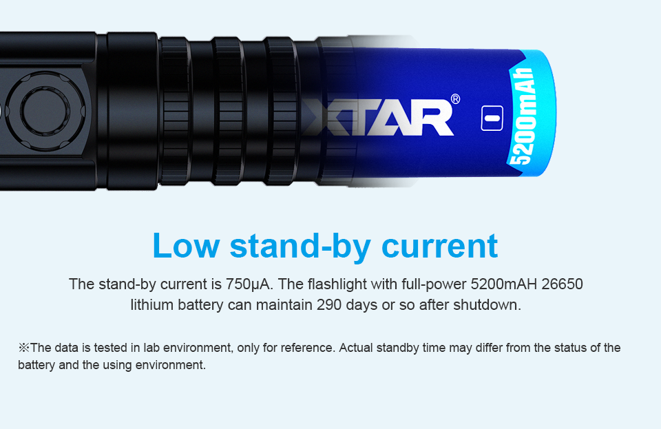 XTAR D26 1600 lumens Indicator LED torch rechargeable aluminum scuba light for cave diving