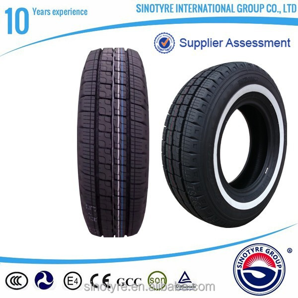 Alibaba China Radial Tubeless Car Tire white sidewall tires