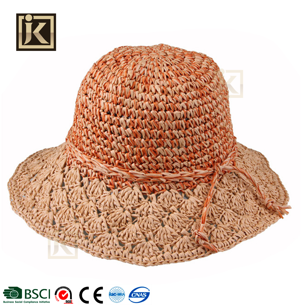JAKIJAYI 2017 women fashion summer favorite dress straw raffia hat