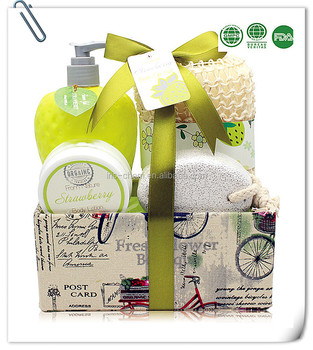 Bath spa Shower Gel and whitening Body Lotion set in Cloth Box