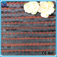 lastest laser pu leather quilting on ground polyester chiffion embroidery fabric for gament