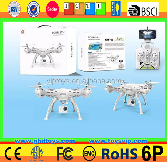 Quadcopter UAV Crop Sprayer Single GPS Auto Follow Me RC RTF Heigh Hold Brushless Professional Drone