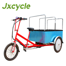 Electric cargo bicycle transport trike for loading vehicle