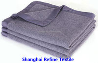 100% wool soft warming airline blanket