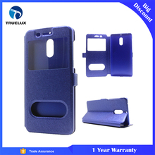 Wide Varieties Cell Phone Accessory Leather Phone Case with View Window Blank