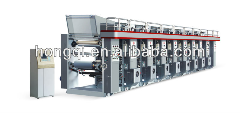 8 color high speed automatic rotogravure printing machine