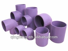 Factory Directly China Purple PVC Pipe Fittings Large Size Water Tube Parts