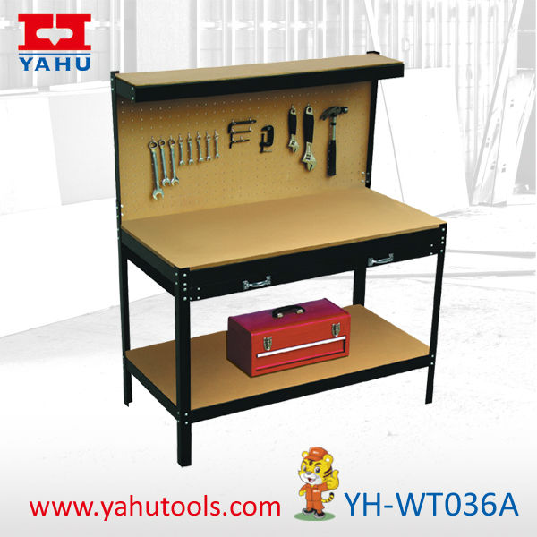 folding steel working bench,worktable for DIY tools,saw horse