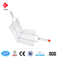Professional Iso Factory Stainless Steel Barbecue Basket Bbq Grill Wire Mesh Net