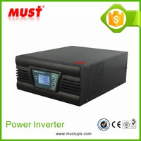 MUST High quality PSW & AVR solar power inverter with charger 1000w 12v 220v