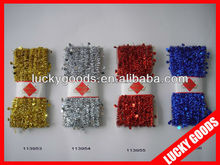 Foil PET tinsel christmas wire garland with head card