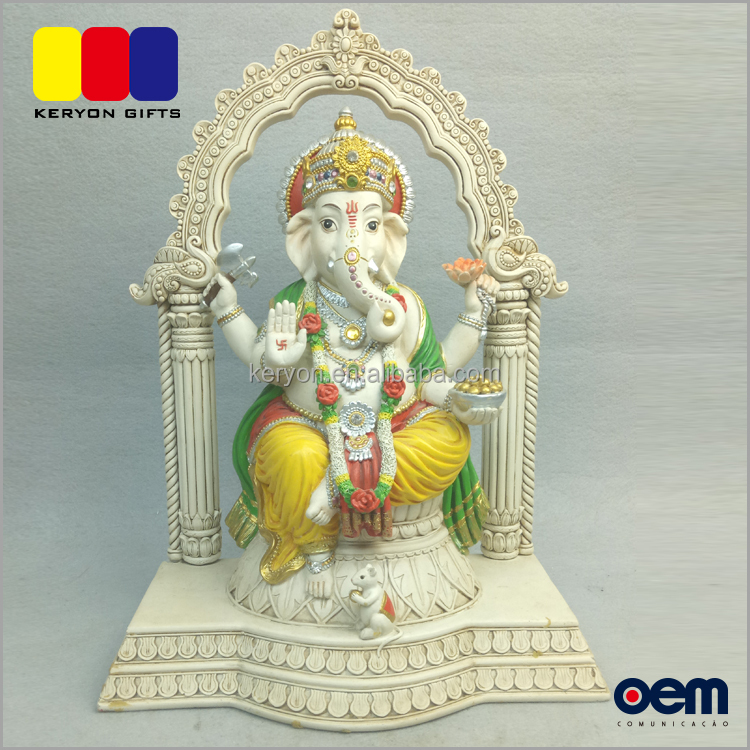 Hot Sale Religious Hindu Gods Resin Indian Lord Ganesha Statue