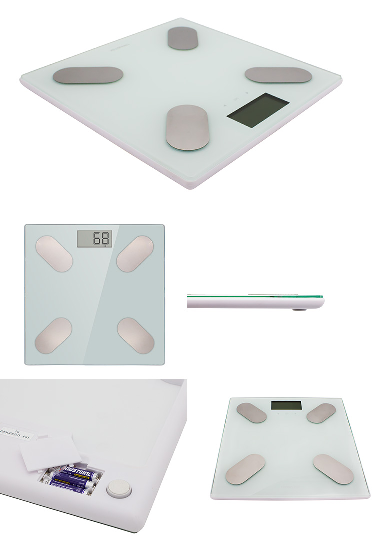 Compact household digital weighing scale / body composition scale