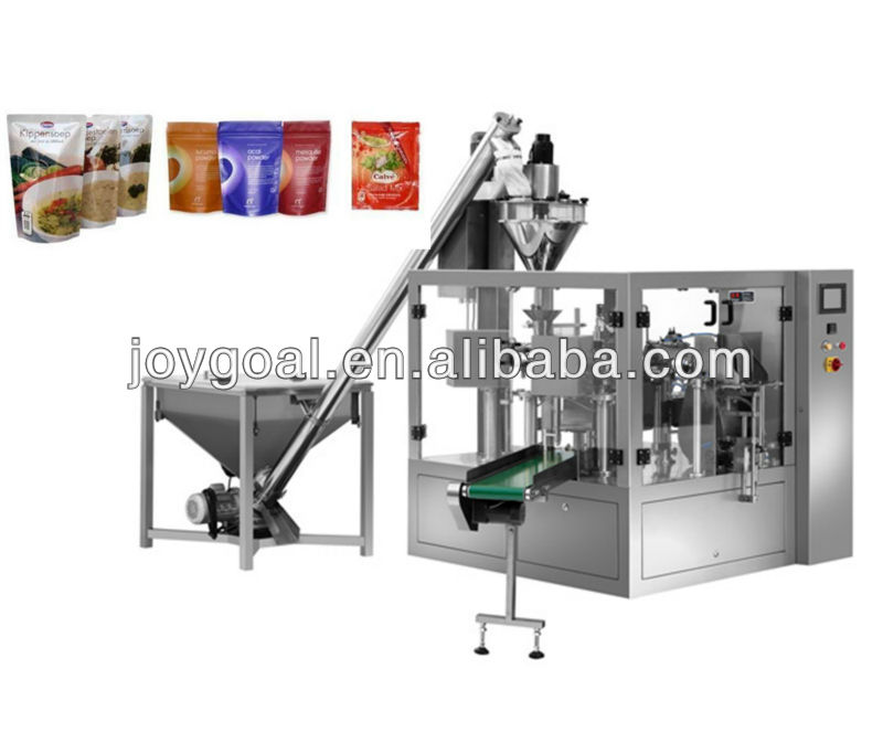 Automatic dry granule foods pouch weighing filling and sealing machine