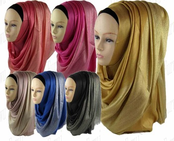 Wholesale fashion shimmer lurex viscose shawl hijab dubai muslim hijab scarf