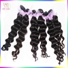 Grade 9A Unprocessed Indonesian Raw Virgin Hair Loose Deep Wave Hairstyles Black WomenJet Dark Black Free Color Ring