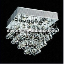 GU10 5 x 35W Modern Ceiling Light, Measures 40 x 40 x 35cm, Made of Iron/Crystal Material