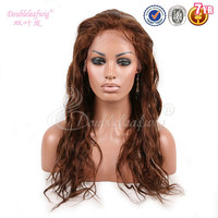 Honey brown brazilian hair with bleach caramel highlights full lace wig