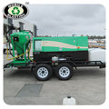 Mobile dustless blasting machine on trailer/dustless blasting for outdoors working