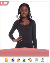 wholesale Women's Basic Long Sleeve V-Neck Tee