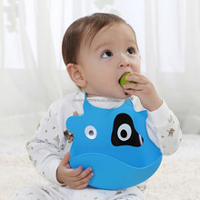 BPA free comfortable soft waterproof silicone baby bib easily wipes clean keep stains off
