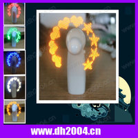 Portable programmable fan with led lights for promotion