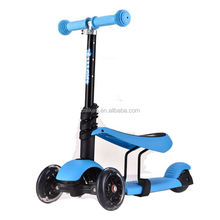 Kids kick push toy scooter front 2 wheels toddler kick 3 wheel foldable maxi scooter