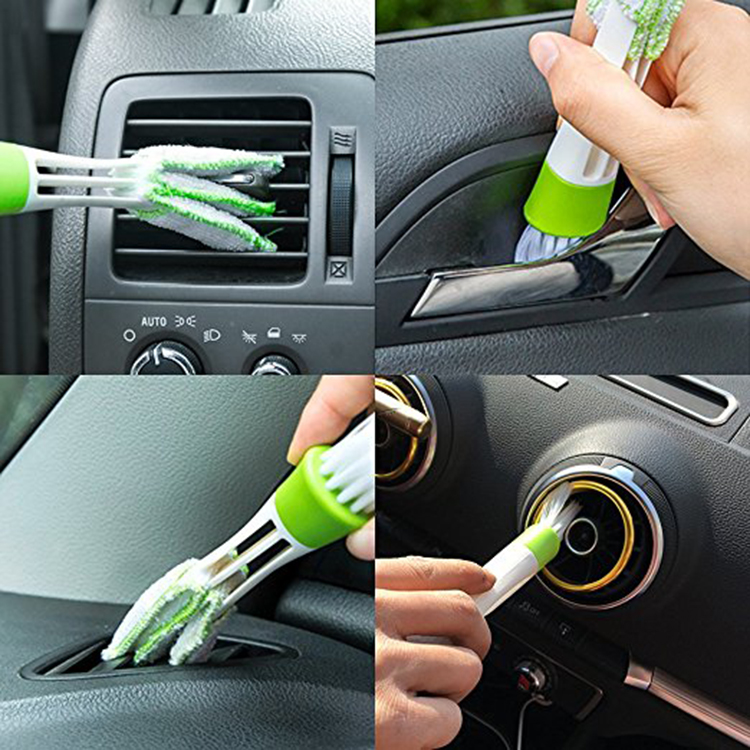 Amazon Hot Sale Double Head Car Air Conditioner Vent Slit Cleaner Brush Window Dusting Blinds Keyboard Cleaning Brushes
