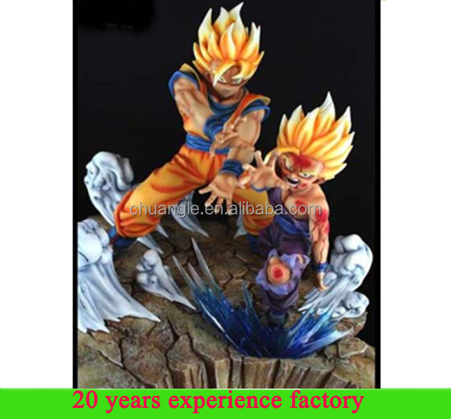 wholesale dragon ball Father-Son Goku Gohan dragonball z resin statues sculptures