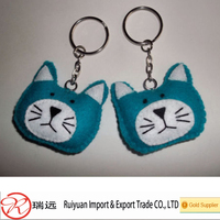2016 new product pretty cute felt keychain made in China