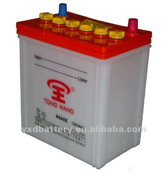 40B19L 36ah Dry Acid Lead auto car start battery